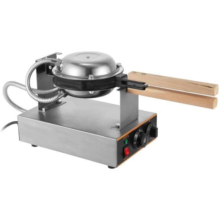 1400W Machine à Gâteau aux Oeufs Electrique Appareil à Beignet Professionnel Waffle Egg Cake Maker Professional pour Cuisine Restaur