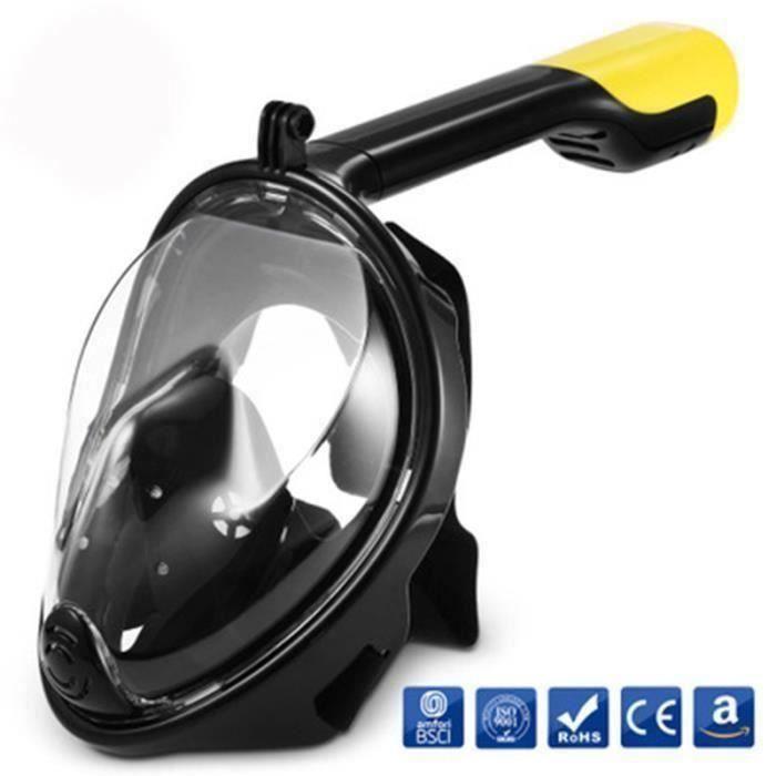 2018 nouveau masque de plongée natation masque de caméra GoPro masque anti-buée complet de plongée en apnée Y217 M0BB7E