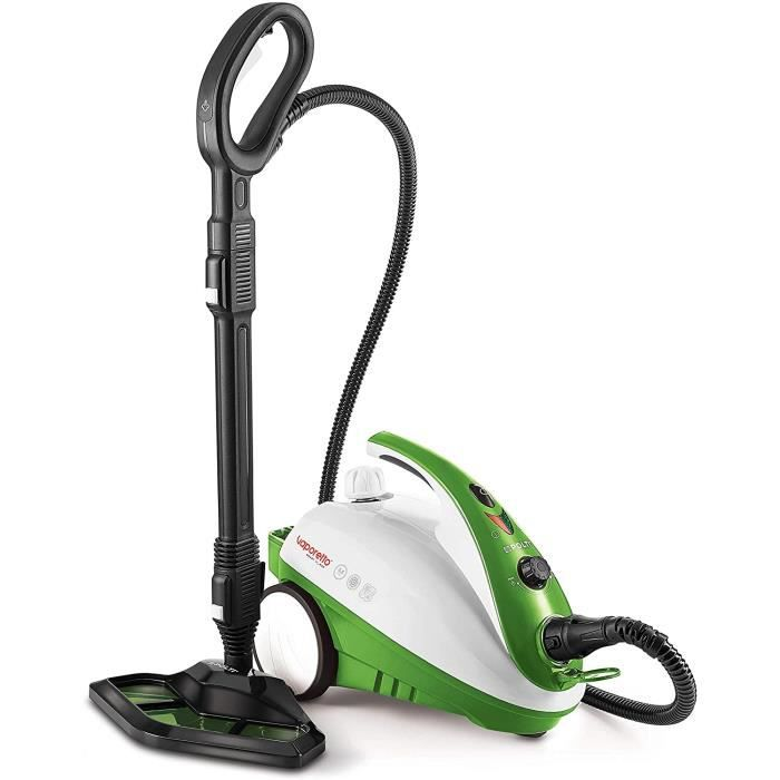 Polti PTEU0271 Vaporetto Smart 35_Mop Steam Cleaner Vaporforce Brush, 1800 W, 1.6 litres, Vert. Tue et élimine 99,99%* des virus, ge