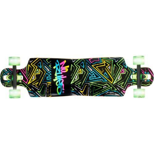 No rules Longboard ABEC 7, Neon, roues lumineuses