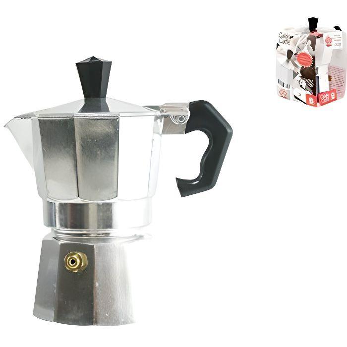 Bialetti 8003512146619 - ELECTROMENAGER - CAFETIERE - Café Chaud Cafetière Expresso 3 Tasses Aluminium Gris 15 x 8,5 x 15,5 cm
