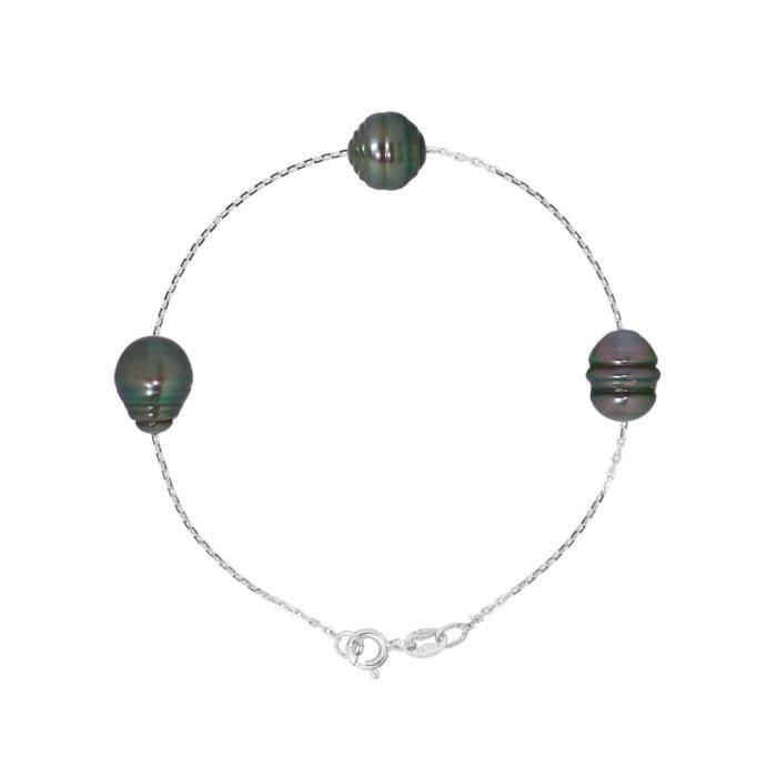 PERLINEA Bracelet Perles de Tahiti et Argent 925° Femme