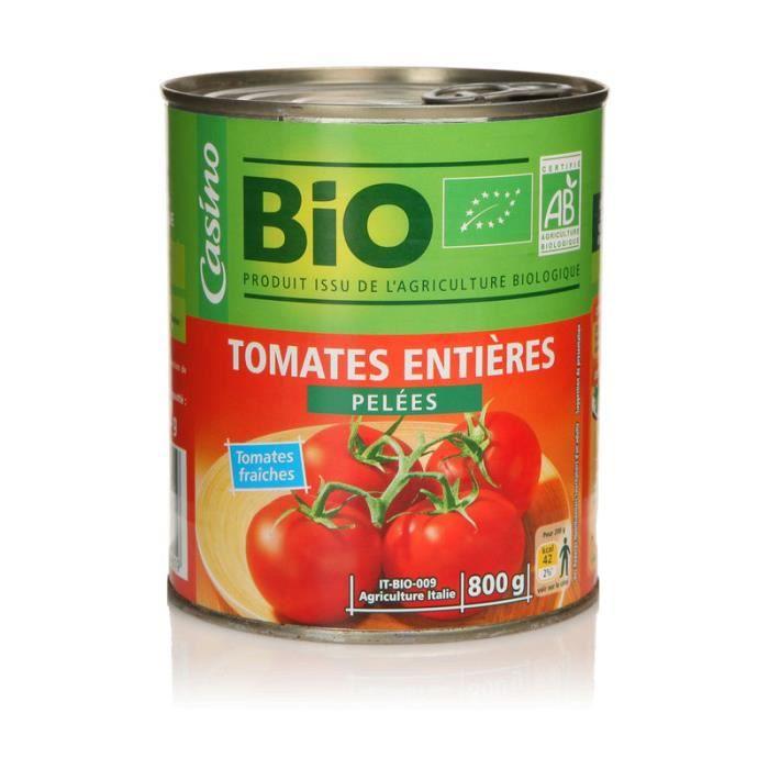 Tomates pelées bio - 480g