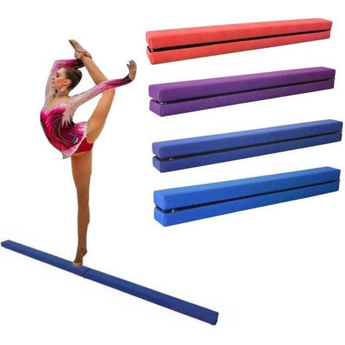 Dripex 210cm Poutre d'équilibre de Gymnastique Pliante Enfants Formation Poutre pour l'exercice de Gym à Domicile-Bleu Foncé