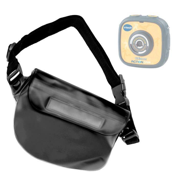 Pochette housse étanche banane noire pour caméra enfant VTech Kidizoom Action Cam - bandoulière réglable