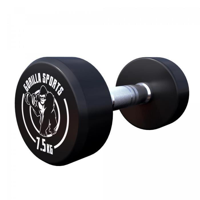 Gorilla Sports 7,5 kg Dumbbell haltère poids