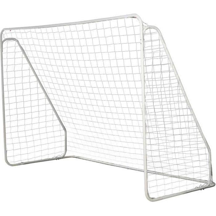 But de football - cage de foot - but d'entrainement dim. 301L x 126l x 200H cm - châssis métal époxy filet PE - piquets inclus -