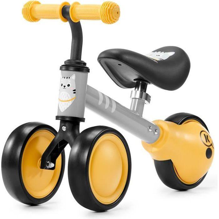 KINDERKRAFT Mini vélo Draisienne CUTIE Jaune - 3 roues - Dès 1 an