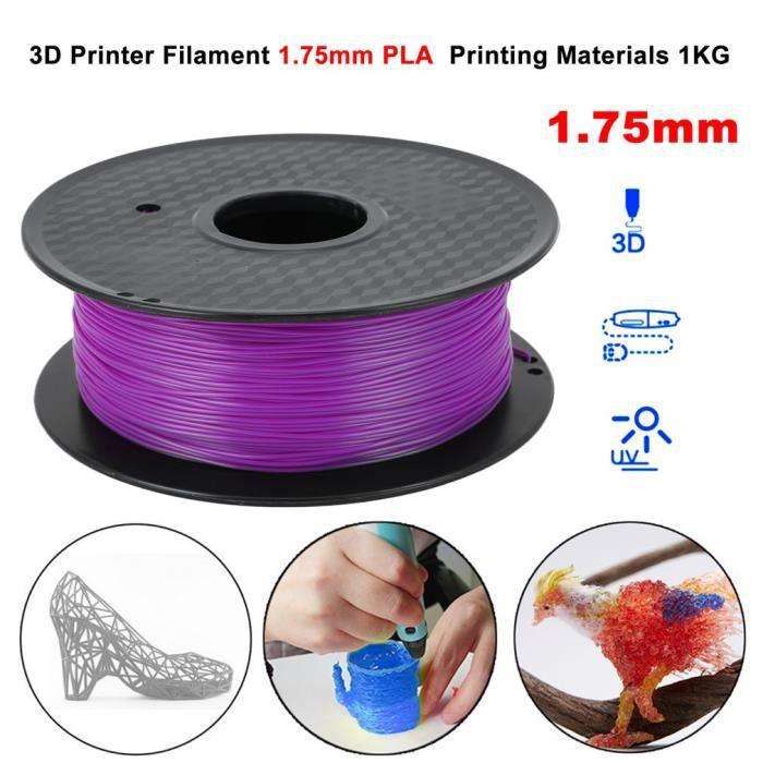 Fil Pour Imprimante 3D 1.75mm1kg Pla filament Haute résistance Violet