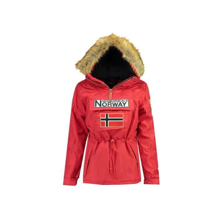 Parka Femme Geographical Norway Bridget New Rouge