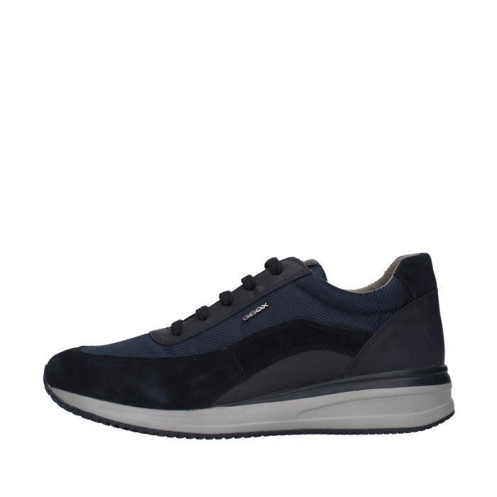 Geox U920GA02211 chaussures de tennis faible homme BLEU MARINE