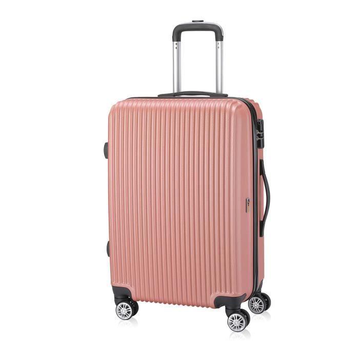 Valise vendu seul - -Economy- Valises Rigideen Roulettes Pivotantesen différentes couleurs et tailles - SAMAX - XL Doré rose