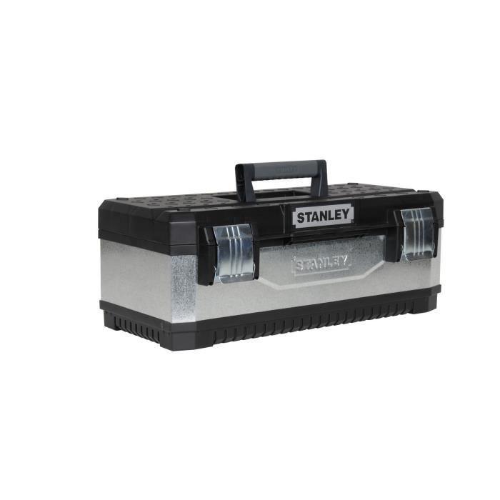 STANLEY Boite à outils vide bi matière galvanisée 59cm