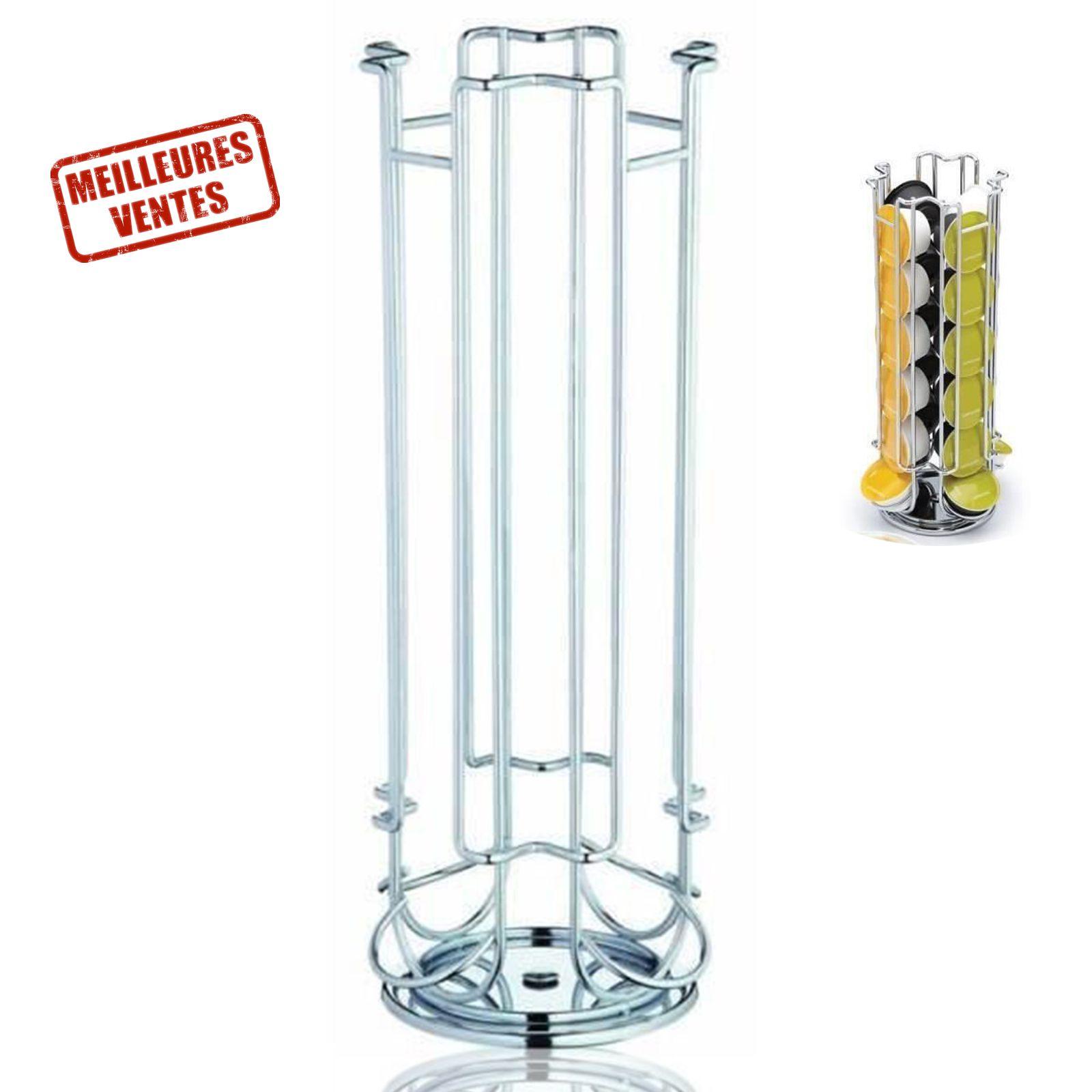 TD® Distributeur de capsules dolce gusto - 40 capsules disponible volume contenance conception métal porte café bureau cuisine