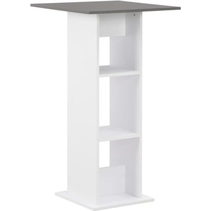 vidaXL Table de bar Blanc 60x60x110 cm