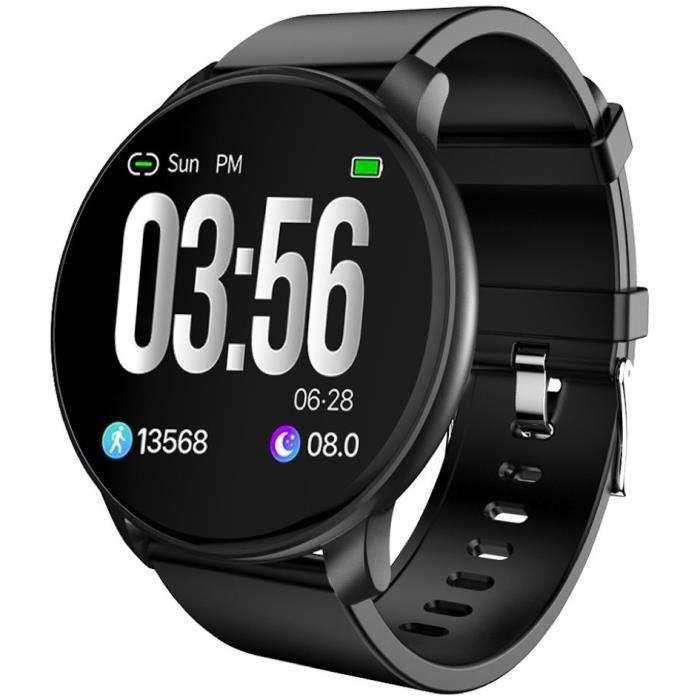 SF+ Montre connectée - Smartwatch élégante - Multisports - Cardio - Bluetooth - Waterproof - Noir