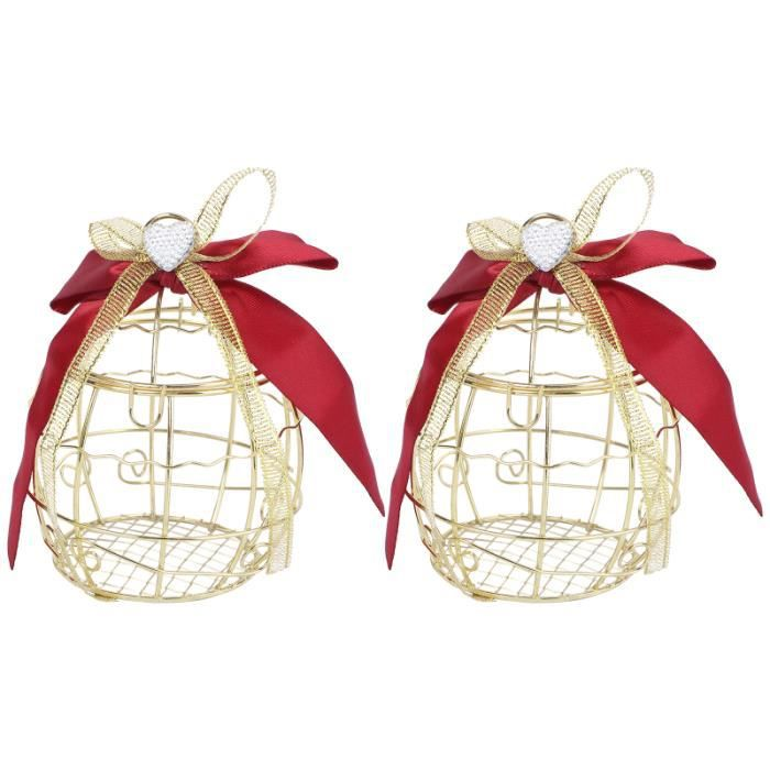 2 pièces créatif unique européen pratique bonbons conteneur cage à oiseaux boîte de stockage à CHOCOLAT-BONBON