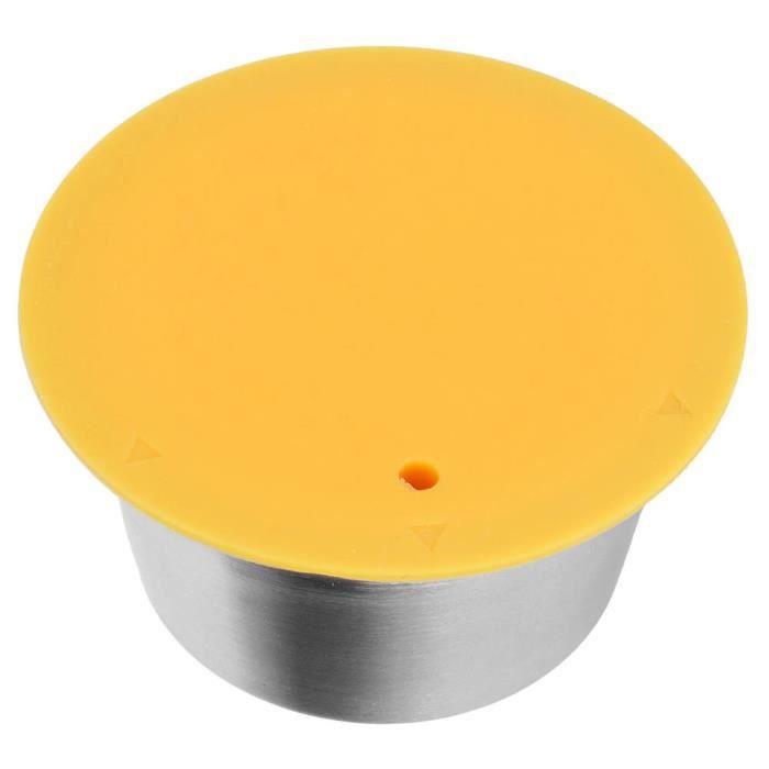 ZJCHAO Capsule réutilisable Tasse de Filtre Rechargeable Réutilisable en Acier Inoxydable Capsule de Café pour Dolce Gusto