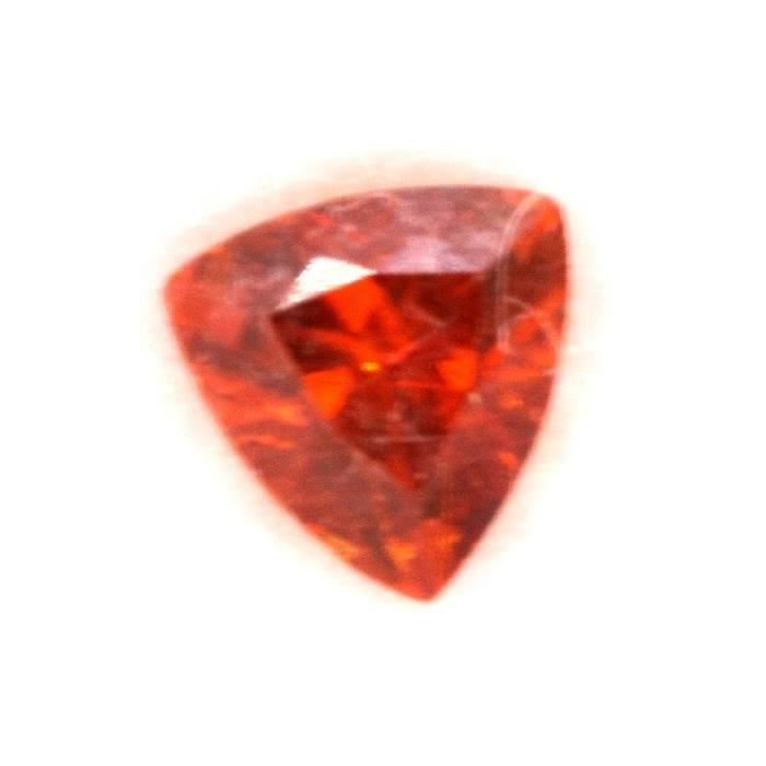 Pierre CLINOHUMITE ORANGE. 0.29 cts . IF + CERTIFICAT. Russie