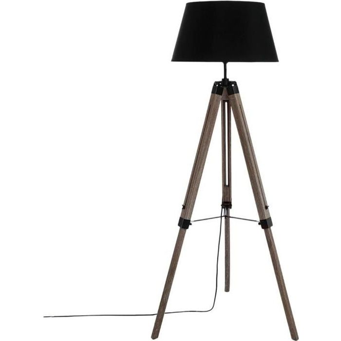 lampadaire tr pied h145 cm achat vente lampadaire tr pied h145 cm soldes cdiscount. Black Bedroom Furniture Sets. Home Design Ideas