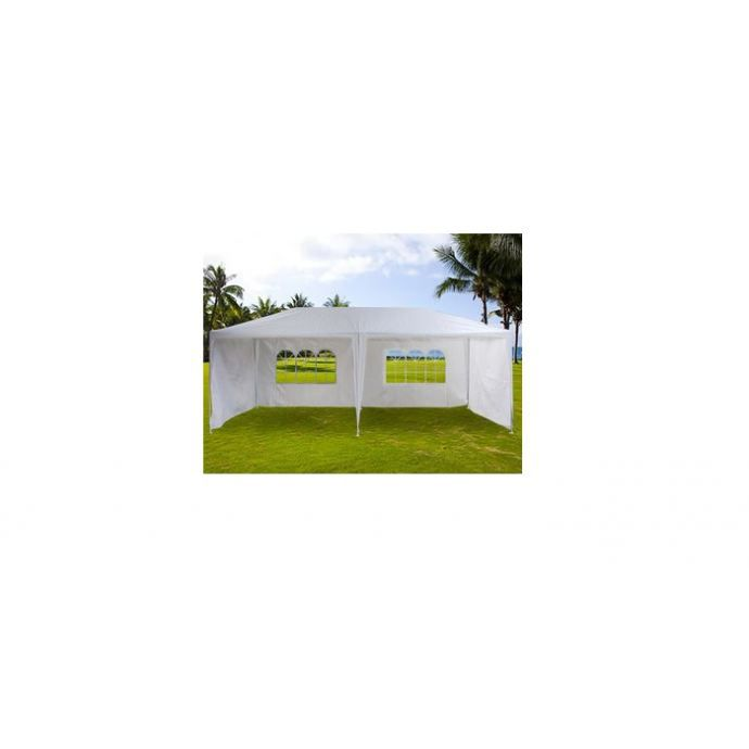 tente de jardin pergola 3x6m toile blanche barnum tonnelle chapiteau r ceptio. Black Bedroom Furniture Sets. Home Design Ideas