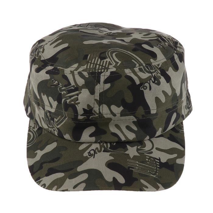 Homme Femmes Camouflage Armée Chapeau Camouflage Militaire Cadet Combat Pêche Casquette de baseball