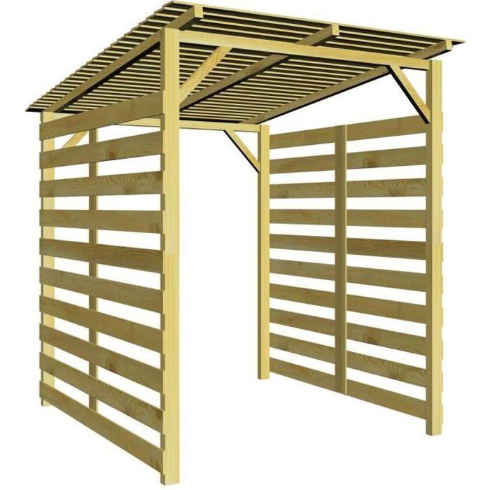 ABRI JARDIN - CHALET P142  Abri de stockage du bois de chauffage pour j