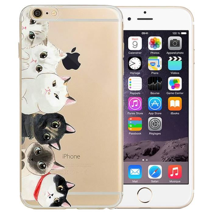 iphone 7 coque silicone chat