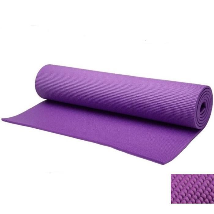 tapis en mousse pour le sport domicile tapis de yoga et fitness violet prix pas cher. Black Bedroom Furniture Sets. Home Design Ideas