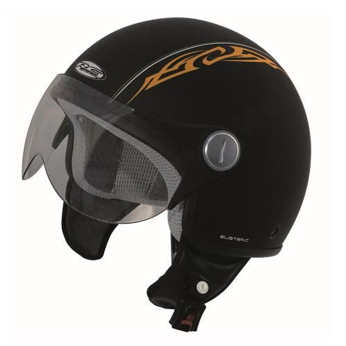 casque moto jet aviateur rc blister orange tribal taille xl 61 62 achat vente casque moto. Black Bedroom Furniture Sets. Home Design Ideas