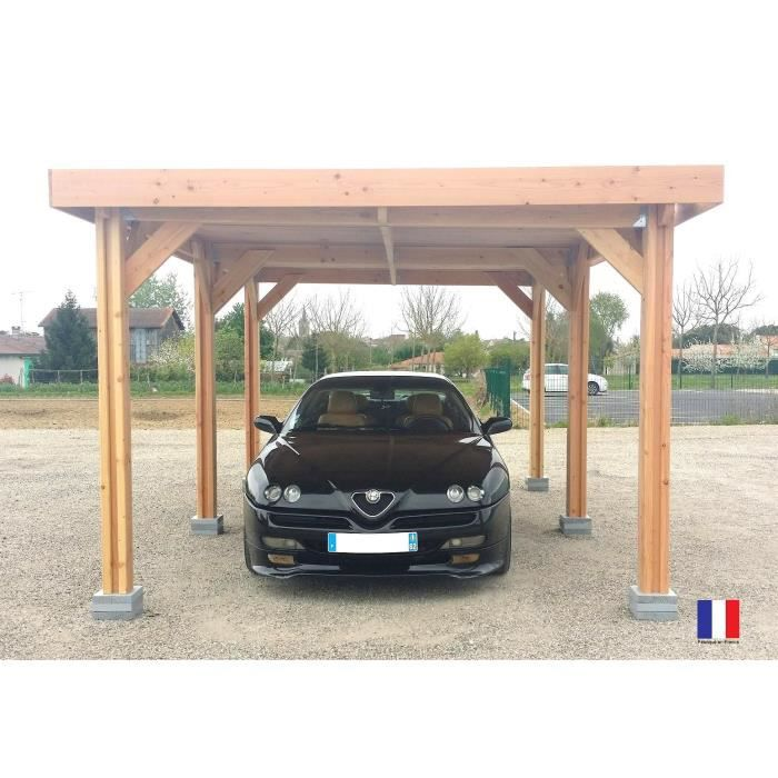 carport abri 1 voiture douglas france toit plat achat vente carport carport abri 1 voiture. Black Bedroom Furniture Sets. Home Design Ideas