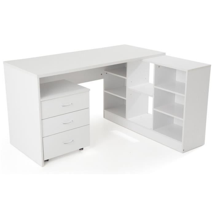 caisson de bureau en bois blanc. Black Bedroom Furniture Sets. Home Design Ideas