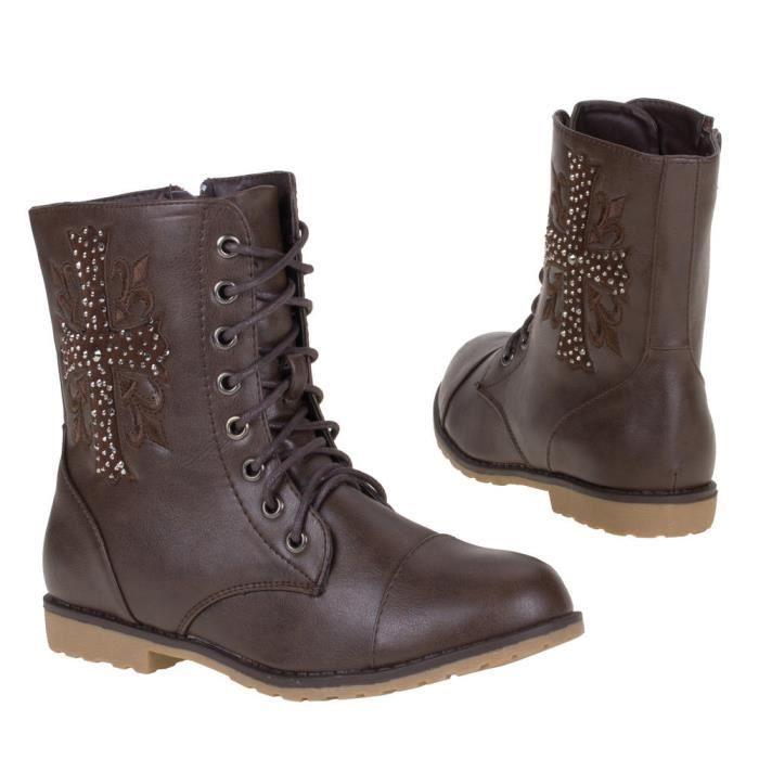 Chaussures p bottines boots marron 37 montant nouvelle GjVMpqUSzL