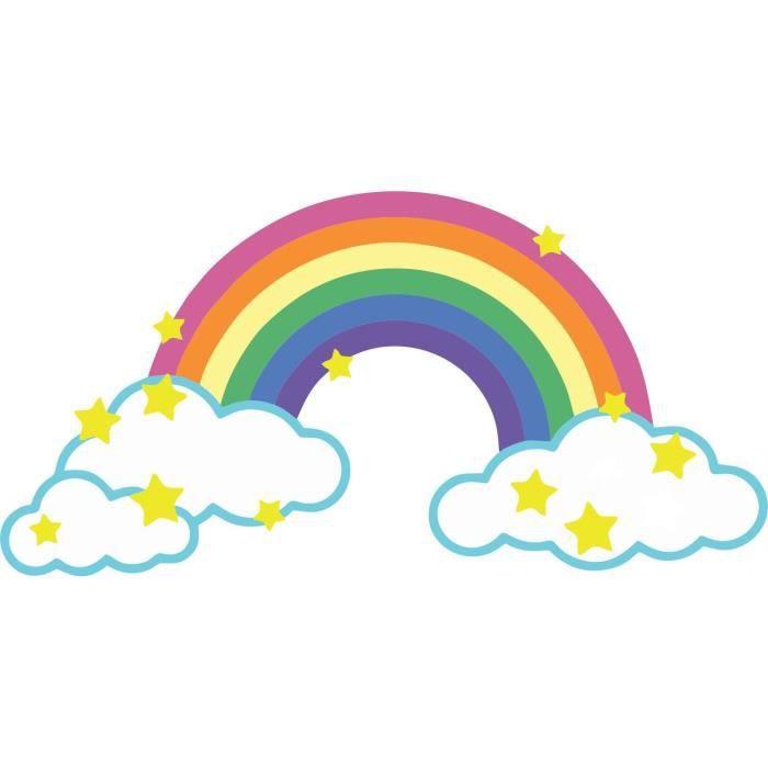 Akachafactory Autocollant Sticker Voiture Moto Deco Peace Love Hippie Arc en Ciel