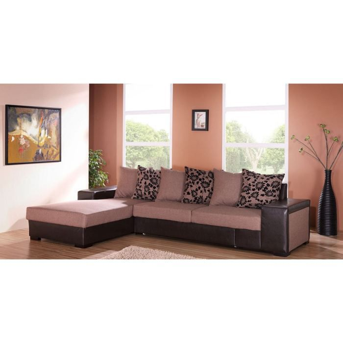 Canap d 39 angle 5 places ole angle gauche achat vente canap sofa - Canape d angle 9 places ...