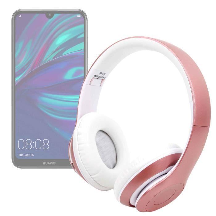 Casque Bluetooth sans fil Rose-Or pour Xiaomi