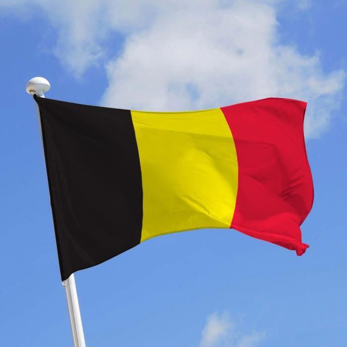 Écusson patch patche drapeau Belge Belgique 70 x 45 mm brodé à coudre badge