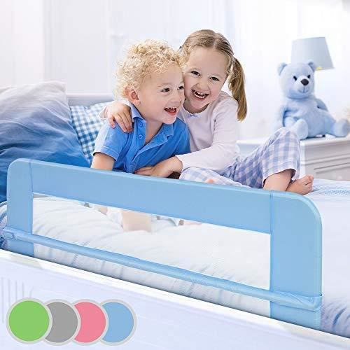 barri re de lit pour enfant 150 cm coloris au choix bleu achat vente barri re de lit b b. Black Bedroom Furniture Sets. Home Design Ideas