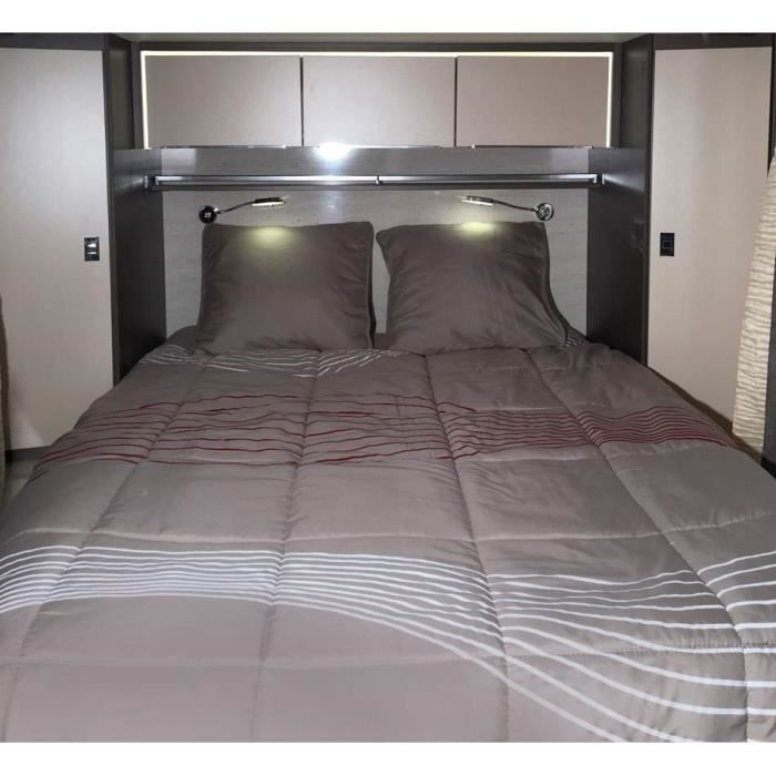 midland pr t dormir vibes 140x190 lit central linge de lit camping car achat vente pack. Black Bedroom Furniture Sets. Home Design Ideas