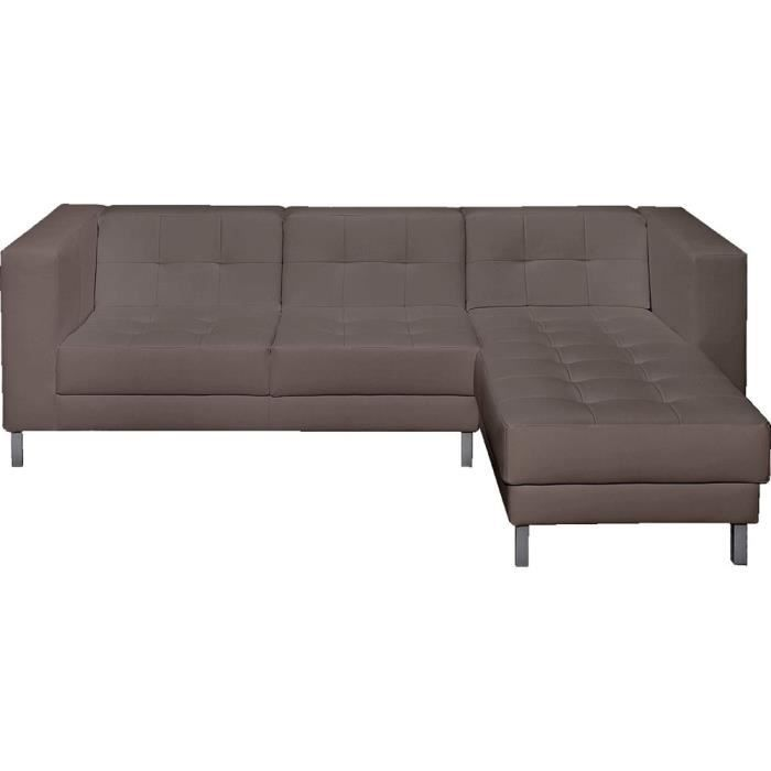 canap d 39 angle droit switsofa manfield taupe achat vente canap sofa divan cdiscount. Black Bedroom Furniture Sets. Home Design Ideas