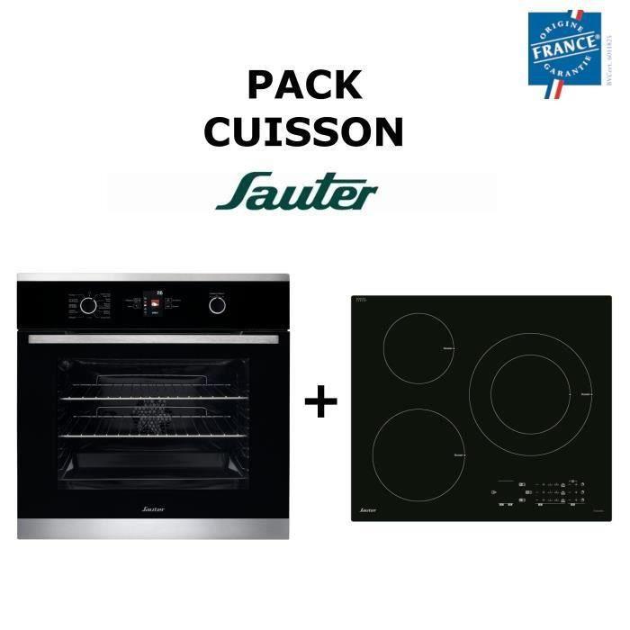 Pack Cuisson SAUTER : Four multifonction + Table de cuisson Induction Pack encastrable