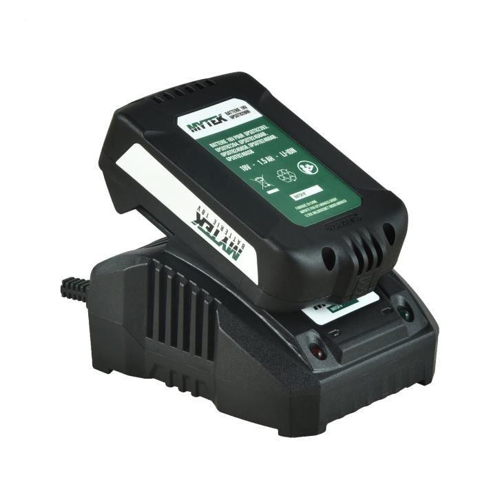 MYTEK Chargeur 18 V - 4 Ah (batterie vendue séparément)