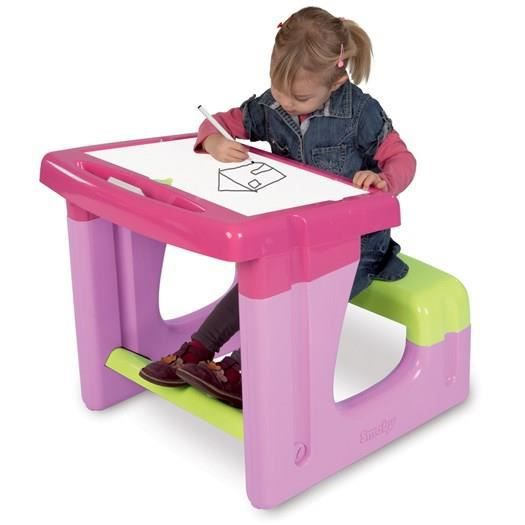 smoby bureau enfant petit ecolier rose achat vente. Black Bedroom Furniture Sets. Home Design Ideas