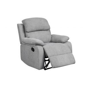 CANAPÉ - SOFA - DIVAN Fauteuil relax en tissu gris