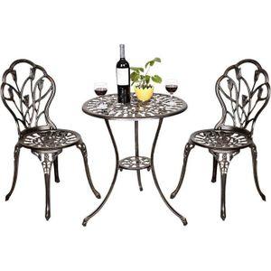 Salon de jardin fonte aluminium