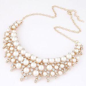 SAUTOIR ET COLLIER Collier perles et strass modèle Algan