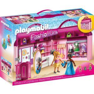 UNIVERS MINIATURE PLAYMOBIL 6862 - Fashion Girls - Magasin Transport