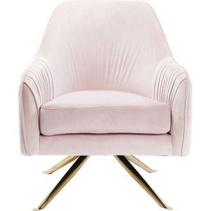FAUTEUIL Fauteuil pivotant Suzy rose Kare Design