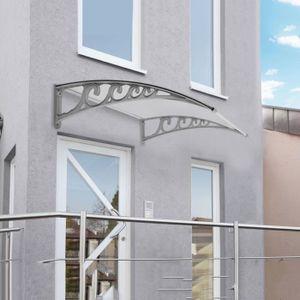 MARQUISE - AUVENT 100x150cm Auvent de porte d'accueil solaire abri e