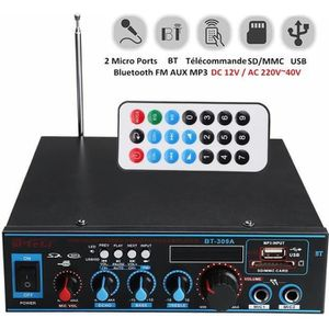 AMPLIFICATEUR HIFI Bluetooth Amplificateur Hi-Fi Stéréo 12V-220V FM U